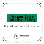 Text says Hunger Scale Intuitive Eating